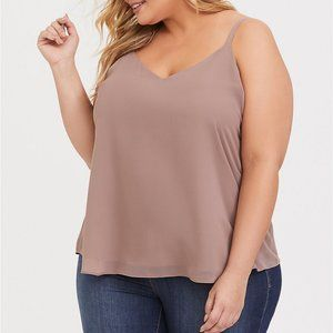 SOPHIE MAUVE BROWN CHIFFON DOUBLE LAYER SWING CAMI